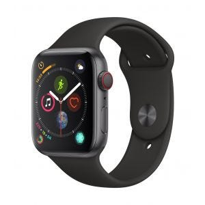 Apple Watch Series 4 Cellular 44 mm - stellargrå med svart Sport Band