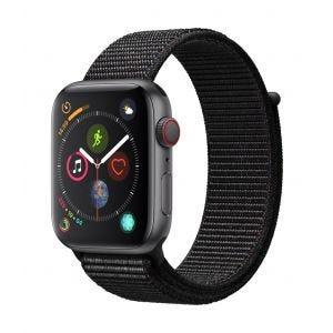 Apple Watch Series 4 Cellular 44 mm - stellargrå med svart Sport Loop