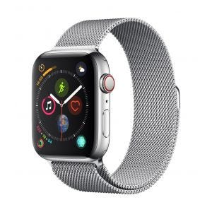 Apple Watch Series 4 Cellular 44 mm - rustfritt stål med Milanese Loop