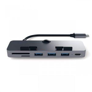 Satechi USB-C Clamp Hub Pro - Stellargrå