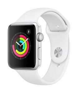 Apple Watch Series 3 GPS 42 mm - sølv med hvit Sport Band