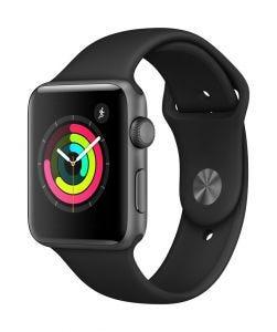 Apple Watch Series 3 GPS 42 mm - stellargrå med svart Sport Band