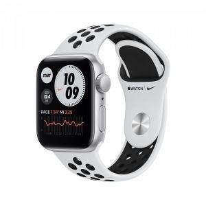 Apple Watch SE Nike GPS 40 mm - Sølv med platina/svart Nike Sport Band