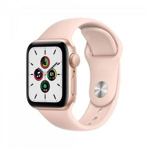 Apple Watch SE GPS 40 mm - Gull med sandrosa Sport Band
