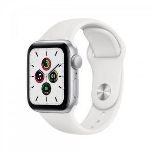 Apple Watch SE GPS 40 mm - Sølv med hvitt Sport Band