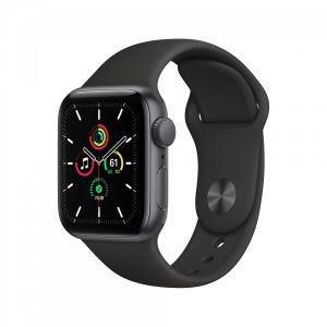 Apple Watch SE GPS 40 mm - Stellargrå med svart Sport Band