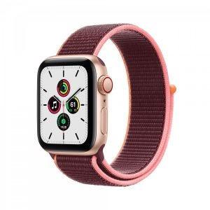 Apple Watch SE Cellular 40 mm - Gull med plommefarget Sport Loop