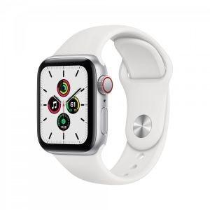Apple Watch SE Cellular 40 mm - Sølv med hvitt Sport Band