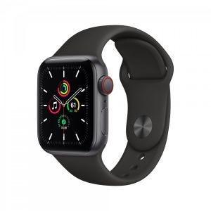 Apple Watch SE Cellular 40 mm - Stellargrå med svart Sport Band