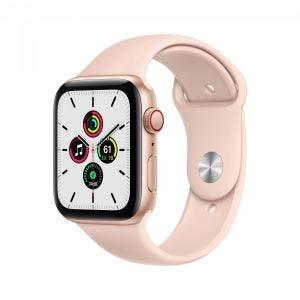 Apple Watch SE Cellular 44 mm - Gull med sandrosa Sport Band