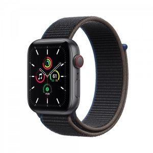 Apple Watch SE Cellular 44 mm - Stellargrå med koksgrå Sport Loop