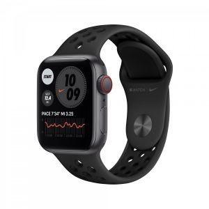 Apple Watch SE Nike Cellular 40 mm - Stellargrå med antrasitt/svart Nike Sport Band