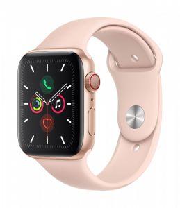 Apple Watch Series 5 Cellular 44 mm - Aluminium i gull med Sandrosa Sport Band