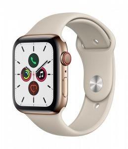 Apple Watch Series 5 Cellular 44 mm - Rustfritt stål i gull med stone Sport Band