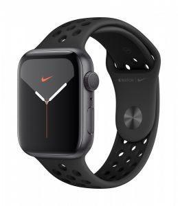 Apple Watch Series 5 Nike+ GPS 44 mm - stellargrå med antrasitt/svart Nike Sport Band