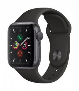 Apple Watch Series 5 GPS 40 mm - Stellargrå med svart Sport Band