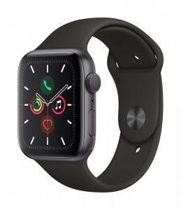 Apple Watch Series 5 GPS 44 mm - Stellargrå med svart Sport Band