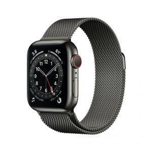 Apple Watch Series 6 Cellular 40 mm - Rustfritt stål i grafitt med Milanese Loop i grafitt