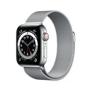 Apple Watch Series 6 Cellular 40 mm - Rustfritt stål i sølv med Milanese Loop i sølv