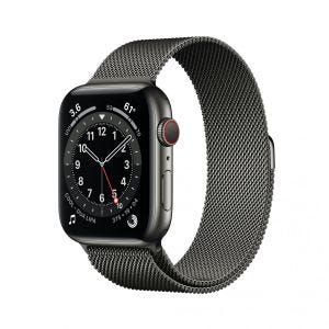 Apple Watch Series 6 Cellular 44 mm - Rustfritt stål i grafitt med Milanese loop i grafitt