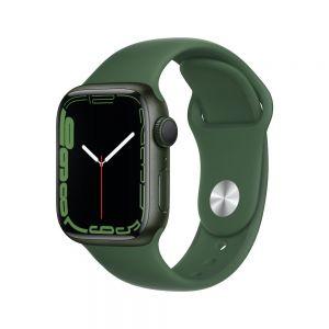 Apple Watch Series 7 41 mm Aluminium - Grønn med Kløver Sport Band