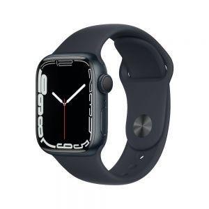 Apple Watch Series 7 41 mm Aluminium - Midnatt med Midnatt Sport Band