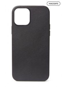 Decoded Backcover skinndeksel med MagSafe støtte til iPhone 12 / 12 Pro - Svart