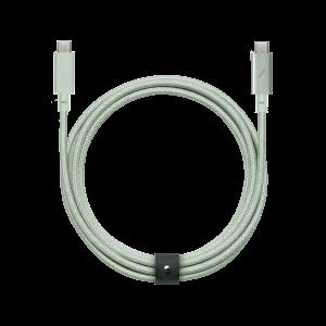 Native Union 2,4m USB-C til USB-C kabel Pro - Salviegrønn