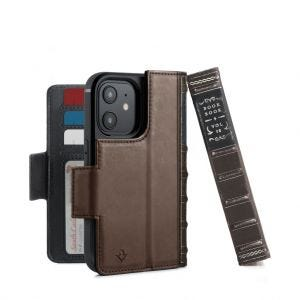 Twelve South BookBook lommeboketui for iPhone 12 Mini -  Brun