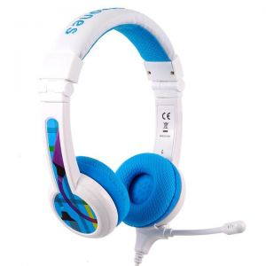 BuddyPhones School+ hodetelefoner med mikrofon - blå