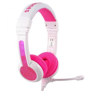 BuddyPhones School+ hodetelefoner med mikrofon - rosa