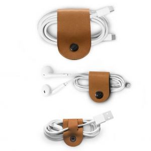 Twelve South CableSnap i Cognac-brun