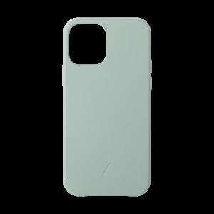Native Union Clic Classic skinndeksel for iPhone 12 mini - Salviegrønn
