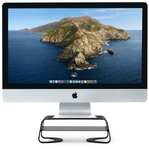 Twelve South Curve Riser stativ for iMac og skjerm - Svart