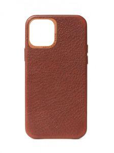 Decoded Backcover skinndeksel for iPhone 12 mini i brunt skinn