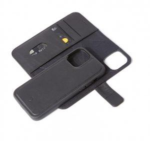 Decoded 2-i-1 lommeboketui for iPhone 12 mini i sort skinn