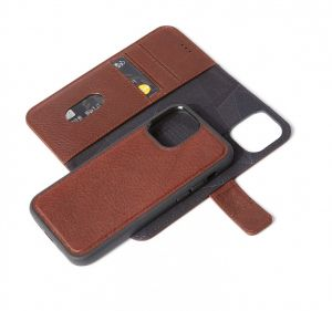 Decoded 2-i-1 lommeboketui for iPhone 12 & 12 Pro i brunt skinn