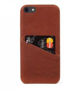 Decoded skinndeksel med kortlomme til iPhone SE/8/7 - Brun
