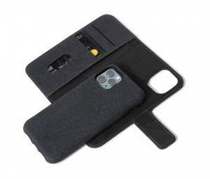 Decoded lommeboketui 2-i-1 til iPhone 11 Pro - Antrasitt/Svart