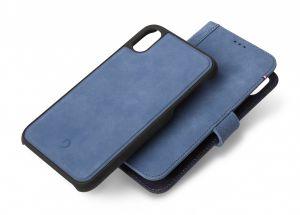 Decoded lommeboketui 2-i-1 til iPhone XS Max - blå