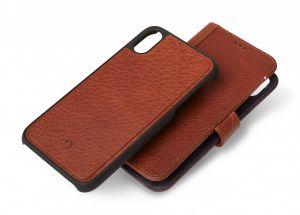 Decoded lommeboketui 2-i-1 til iPhone XS Max - brun