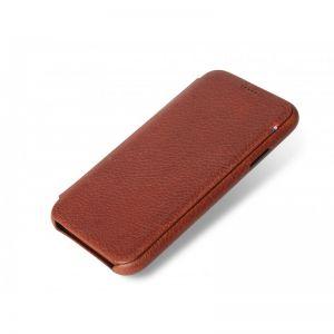 Decoded slim lommeboketui til iPhone XR - brun