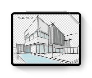 """Doodroo skjermfilm for tegning til iPad Pro 12.9"""" (3. og 4. generasjon)"""