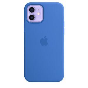 Apple Silikondeksel med MagSafe til iPhone 12 / 12 Pro - Capriblå