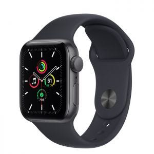 Apple Watch SE GPS 40 mm - Stellargrå med midnatt Sport Band