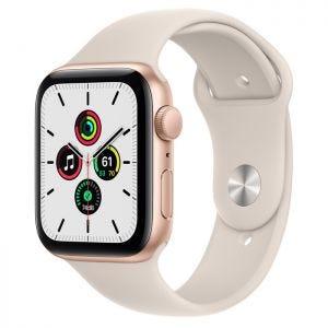 Apple Watch SE GPS 44 mm - Gull med stjerneskinn Sport Band