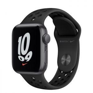 Apple Watch SE Nike GPS 40 mm - Stellargrå med Antrasitt/Svart Nike Sport Band