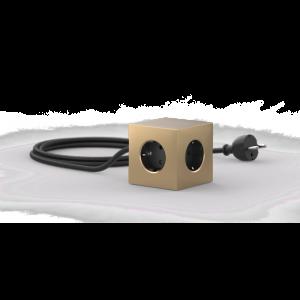 Avolt Square1 Skjøteledning med USB - Gull