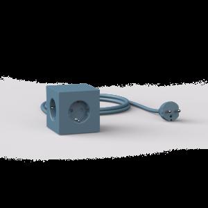 Avolt Square1 Skjøteledning med USB - Blå