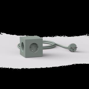 Avolt Square1 Skjøteledning med USB - Grønn